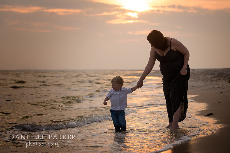 Anticipating Baby R at Sunset | Beach Maternity Photos