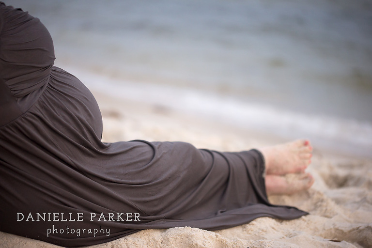 Anticipating Baby R at Sunset | Maternity Photographer Mobile, AL | Dauphin Island Beach