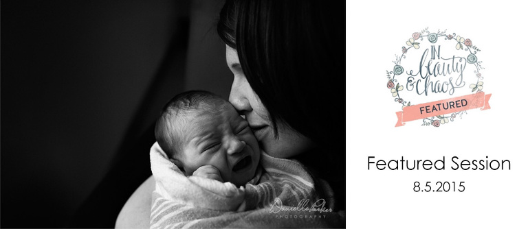 Newborn Baby Crying in Mother's Arms | Fresh 48 Session | Featured on In Beauty and Chaos | Mobile Fresh 48 Photographer