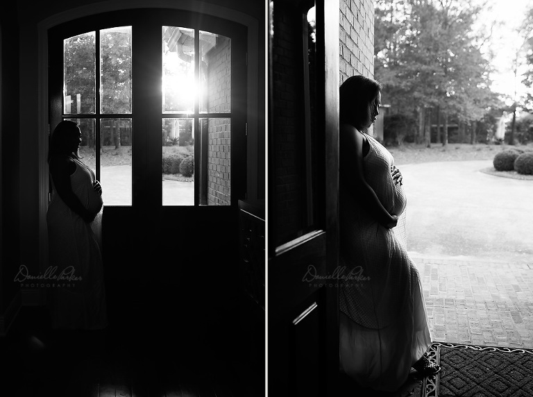 pregnancy silhouette | in-home maternity session | Danielle Parker Photography | Maternity Photography Mobile