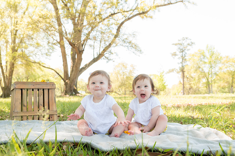 How They've Grown| 8 Month Twin Girls | Gulf Coast Baby Photographer | Danielle Parker Photography