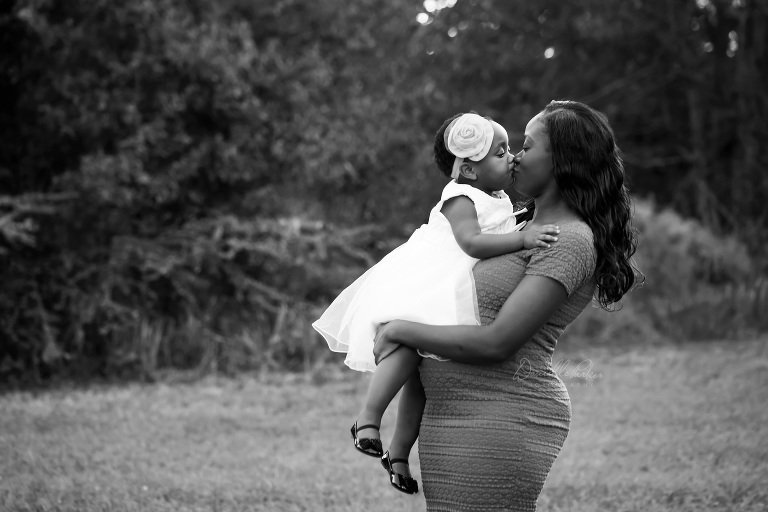 Expectant Mother Holding and Kissing First Born | Danielle Parker Photography | Mobile, AL