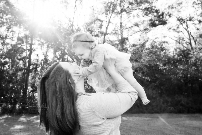 Danielle Parker Photography | 6 Month Princess | Baby Milestone Photography Mobile, AL | Outdoor Milestone Session