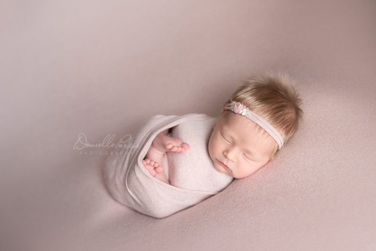 Beautiful Blonde Baby Girl | Newborn Photography Mobile AL | Danielle Parker Photography